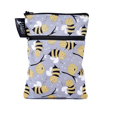 Colibri Bumble Bee Dual Pocket Purse Sized Wet Bag - Tree Hugger Cloth Pads