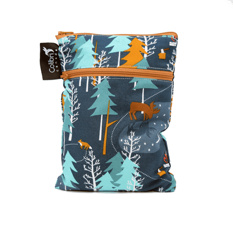 Colibri Camp Out Dual Pocket Purse Sized Wet Bag - Tree Hugger Cloth Pads