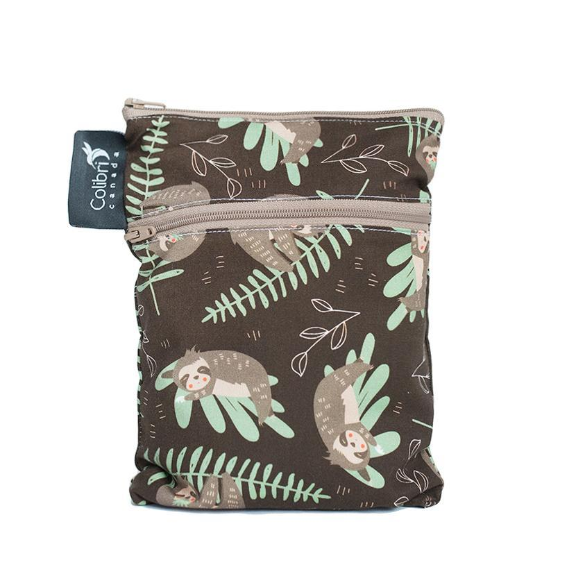 Colibri Sloth Dual Pocket Purse Sized Wet Bag - Tree Hugger Cloth Pads