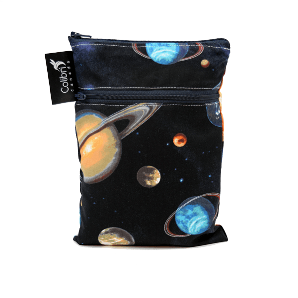 Colibri Space Dual Pocket Purse Sized Wet Bag - Tree Hugger Cloth Pads