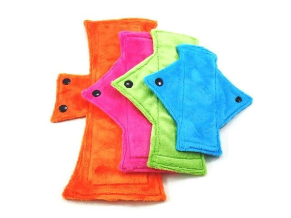 SAVE on Surprise Me!  Minky Starter Set/Size Sampler (one of each size) - Tree Hugger Cloth Pads