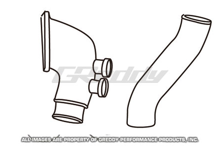 GReddy Mazda RX-7 1993-96 Aluminum Piping Kit (G) includes