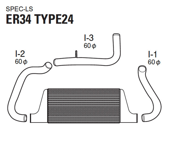 GReddy Type24E LS Intercooler Kit Nissan Skyline GTS ER34