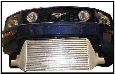 Garrett 900HP front mounted intercooler & mounting hardware for Mustang GT 2005+ twin turbo