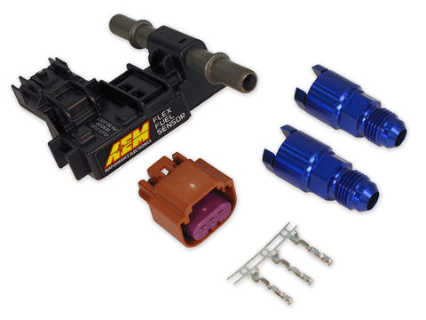 "AEM Ethanol Content Flex Fuel Sensor Kit (-6 AN) -6AN to 3/8"" adapter fittings"