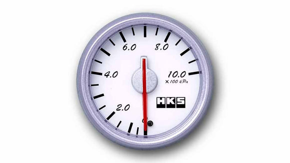 HKS Direct Bright Series Pressure Meter (White Face)