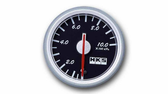 HKS Direct Bright Series Pressure Meter (Black Face)