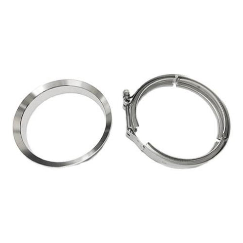 "5"" MARMON Stainless Downpipe Flange & Clamp Borg Warner T6 DIV HSG S400 Series S SX SX-E S400 SXE"