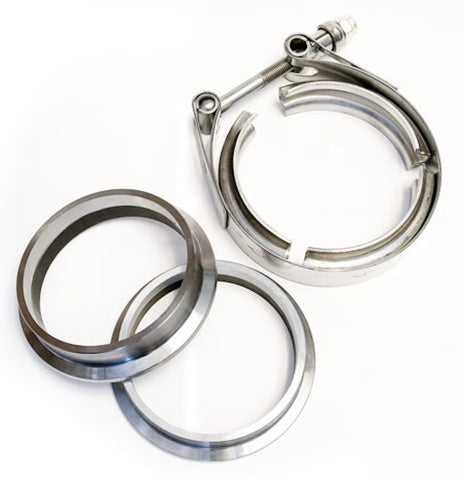 "2.5"" Stainless V-Band Flange and Clamp Set - Male/Female"