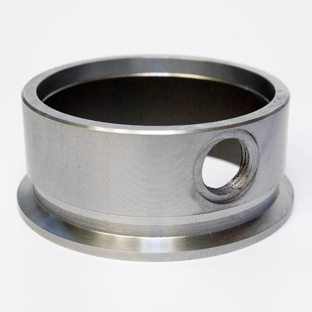 "Flange, 3"" V-Band Flange with Integrated O2 Bung Port, mild steel"