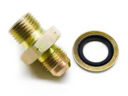 Fitting, Metric 16mm to 6AN, Male to Male (For coolant or oil)