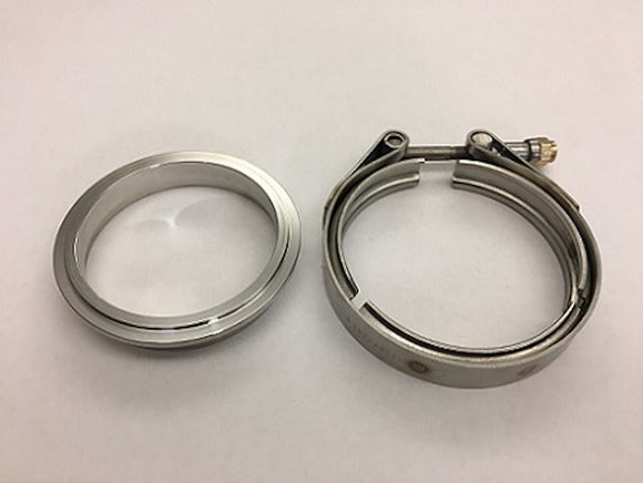 Stainless DOWNPIPE Flange and Clamp set 3