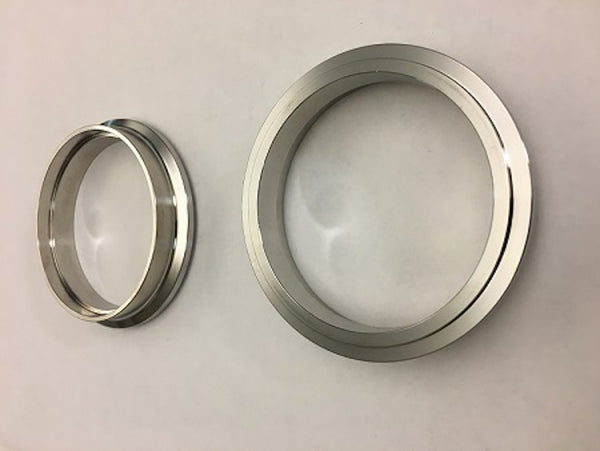 "FLANGE, Stainless 3"" GT V-Band w/ 81mm protruded lip, fits Garrett Housings with 90mm (3.55"") OD"