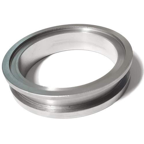 "Flange, Steel Weld, 3"" V-band, T4 Turbine Hsg, Convert discharge to 81mm centering V-band"