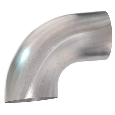 "90 Degree 5"" Mandrel Bent Elbow, Stainless Steel, Tight Radius"