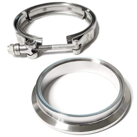 "3"" Stainless Downpipe Flange and Clamp Borg Warner EFR Turbos 6258, 6758, 7163, 7064, 7670 8374 9180"