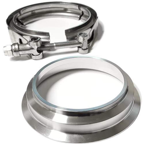 "3"" Stainless Downpipe Flange and Clamp Borg Warner S SX SX-E Turbos S200, S300, S200SX, S300SXE S360"