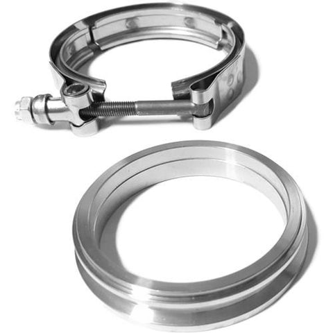 "Clamp and Flange Set, T31, STAINLESS STEEL V-band, Double Stepped, 3"" or 2.5"" Piping"