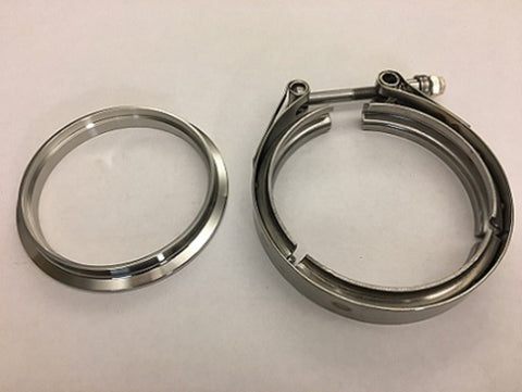 "4"" V-band Stainless DOWNPIPE SIDE Flange and Clamp SET for T4 Turbine Housing GT42/GTX42 GT45/GTX45"