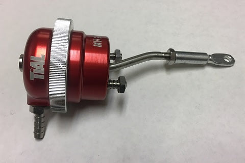 Billet Wastegate Actuator, TiAl PN: 005410, MVI-2.5, RED, 10 PSI, Bent Rod
