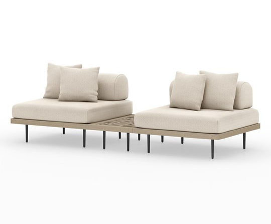 Yves 2-Piece Sectional w/ End Table