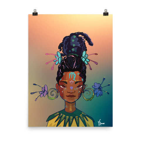 Zodiac Poster - Virgo - 18x24 - Apparel, planetlucid - Planet Lucid, Poster - accessories
