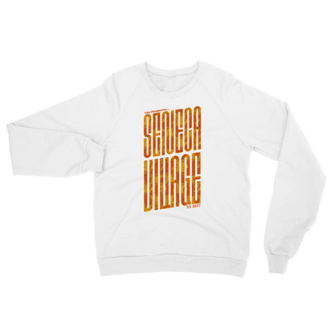 Seneca Village - Unisex Raglan sweater - Pattern Text