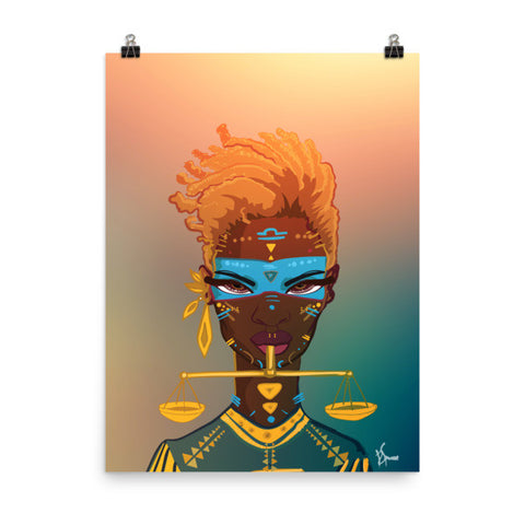 Zodiac Poster - Libra - 18x24 - Apparel, planetlucid - Planet Lucid, Poster - accessories