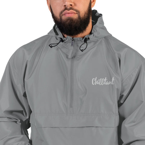 Chillitant - Embroidered Champion Packable Jacket - Black Text - Apparel, planetlucid - Planet Lucid,  - accessories
