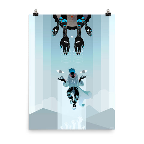 Levitate Series - Olorun Poster 18x24 - Apparel, planetlucid - Planet Lucid, Poster - accessories