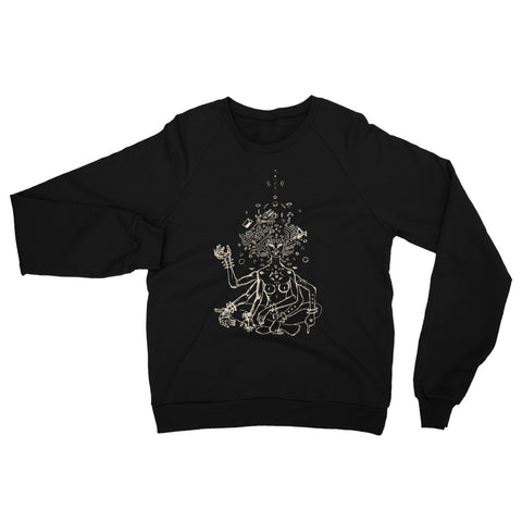 The Unbothered - Women's Fleece Raglan Sweatshirt - Apparel, planetlucid - Planet Lucid,  - accessories