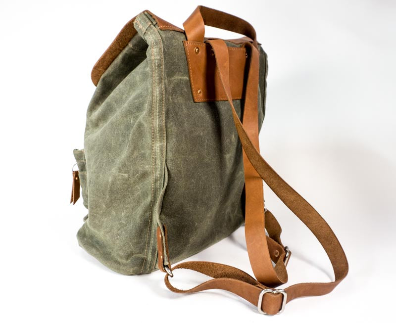 e320535ae Backpack in Army Green and Chestnut
