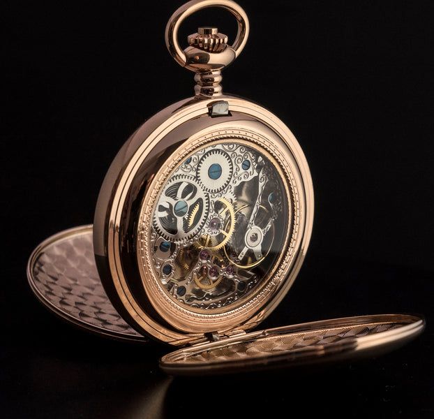 Large Rose Gold Pocket Watch