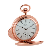 Load image into Gallery viewer, Large Rose Gold Pocket Watch