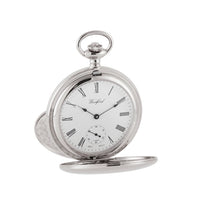 Load image into Gallery viewer, Large Chrome Skeleton Pocket Watch