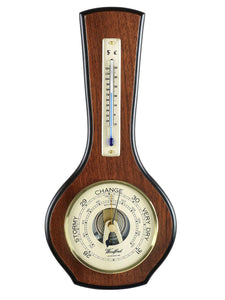 Wall Barometer & Thermometer 1601