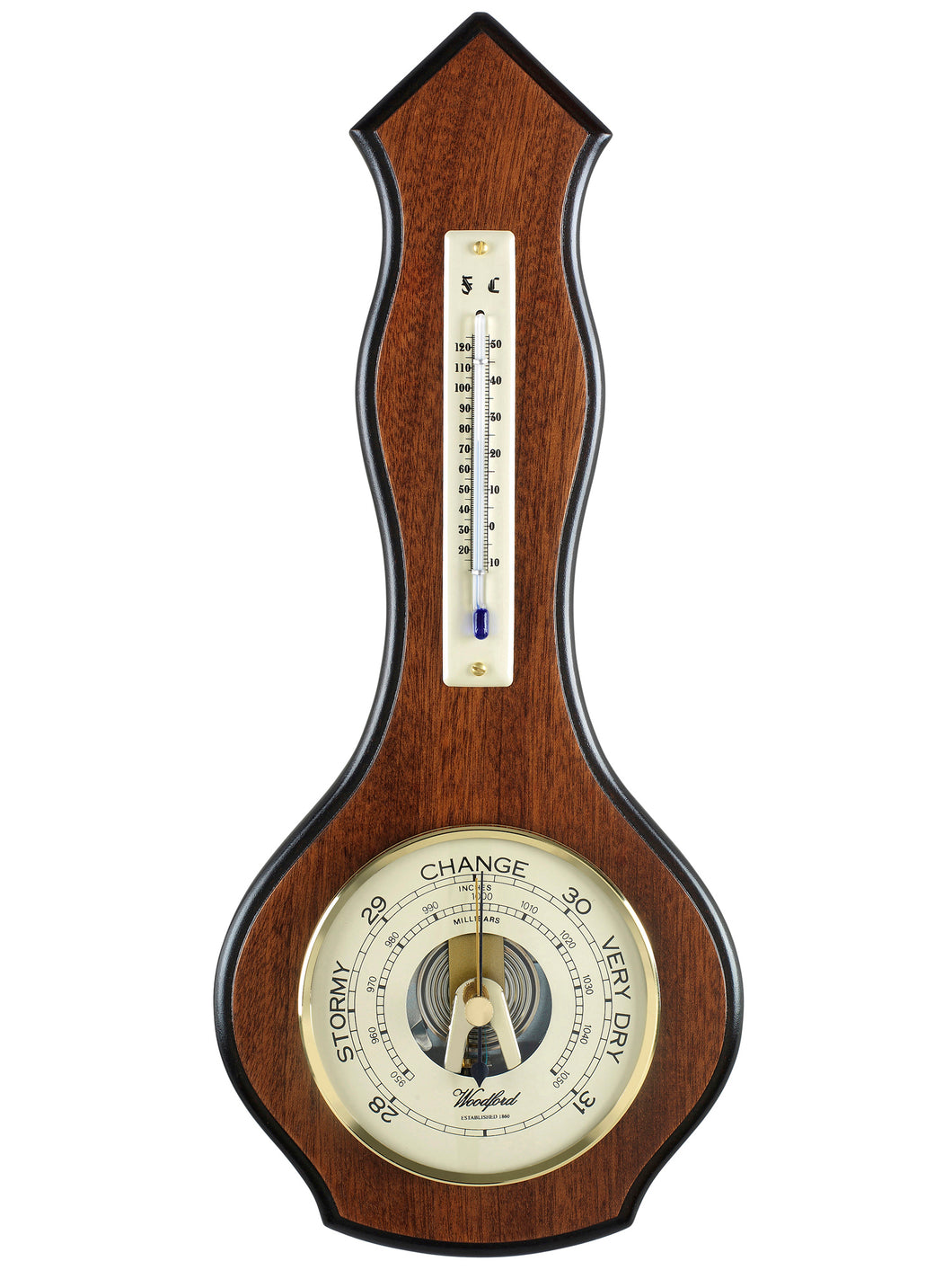 Traditional Wooden Wall Barometer 1602