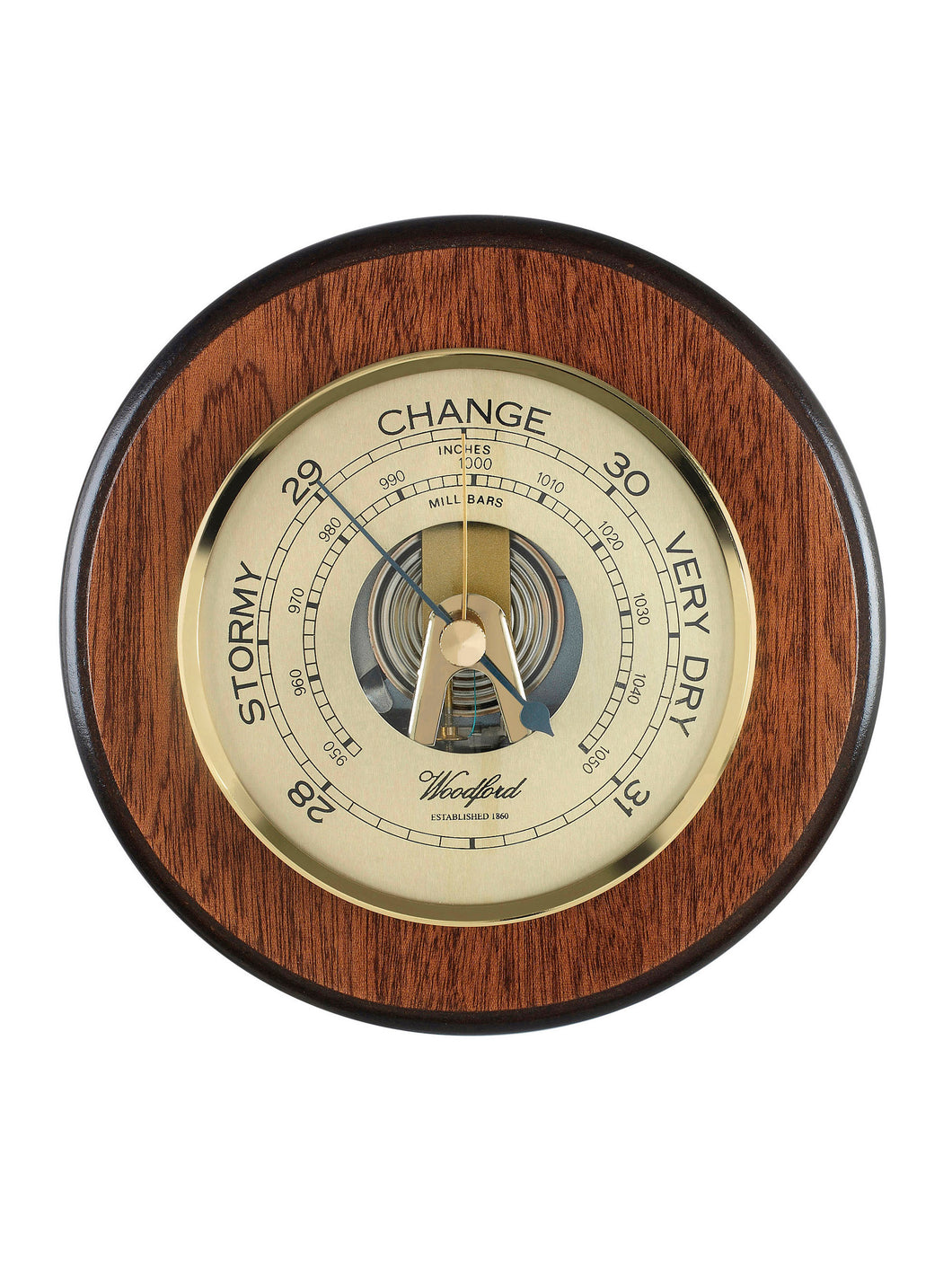 Traditional Wooden Barometer