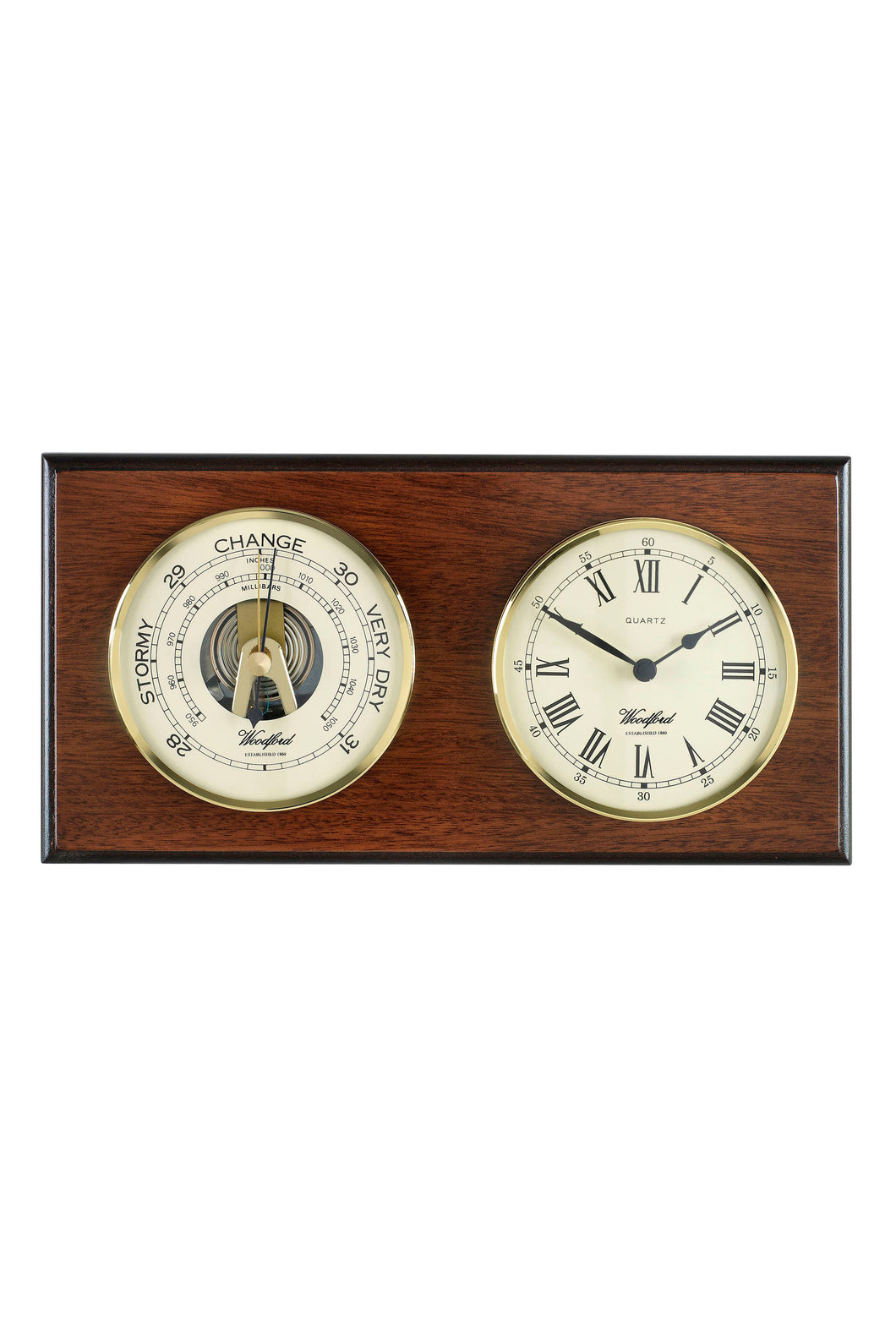 Wall Plaque Barometer and Clock