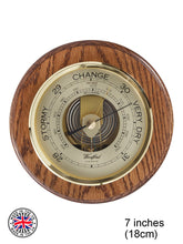 Load image into Gallery viewer, Traditional Round Barometer in Solid Wood Oak
