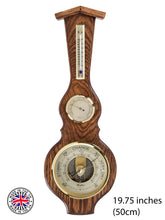 Load image into Gallery viewer, Solid Oak Barometer Hygrometer Thermometer