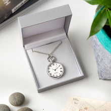 Load image into Gallery viewer, Stylish Necklace Watch with Chain in Padded Gift Box.