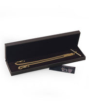 Load image into Gallery viewer, Double Albert Gold Plated Pocket Watch Chain