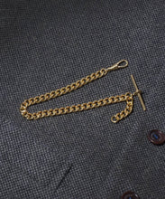 Load image into Gallery viewer, Large Single Gold Plated Albert Watch Chain
