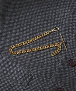 Large Single Gold Plated Albert Watch Chain