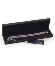 Load image into Gallery viewer, Sterling Silver Double Albert Watch Chain