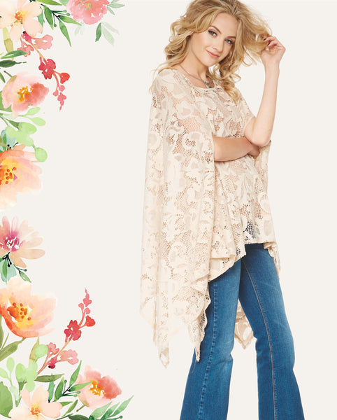 2tee Couture Spring 2016 Lookbook - Presley Lace Poncho