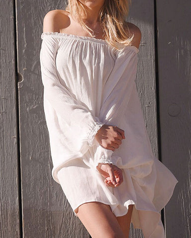 2tee Couture Summer 2016 Photoshoot Breeze Oversized Linen Beach Dress