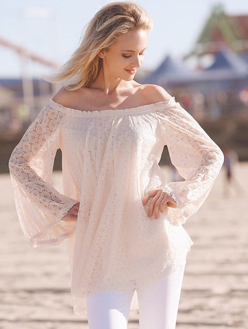 2tee Couture Summer 2016 Photoshoot Off the Shoulder Bohemian lace Top