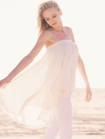 2tee Couture Summer 2016 Photoshoot Strapless Bohemian lace beach Top